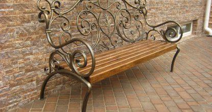 Стильные кованые скамейки